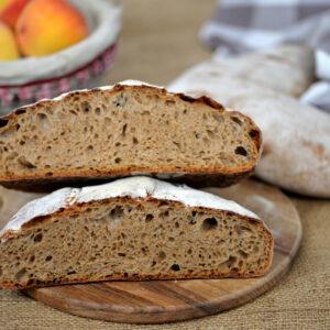 ginger peach cobbler bread