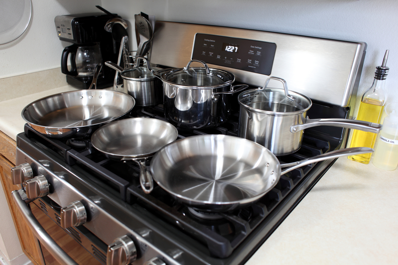 cooking with stainless steel cookware